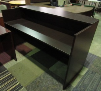 OTG Reception Desk Shell with Transaction Top (Espresso)