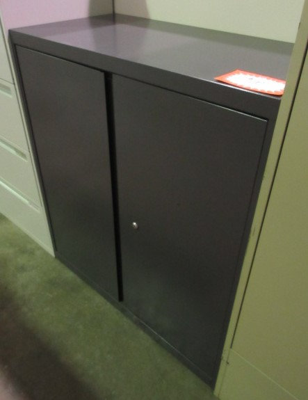 allsteel dark grey storage cabinet 42 tall locking jg