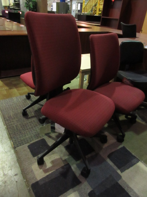 steelcase armless task chair maroon jg 39 s old furniture