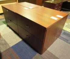 Lacasse D-Island Double Pedestal Desk & Return (Cherry/Laminate)