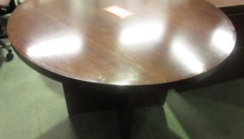 Hon Round Wooden Veneer Cherry Conference Table JGs Old - Hon 42 round conference table