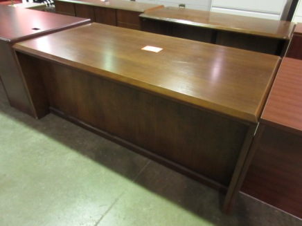 DARRAN Walnut Desk & Credenza Set (Wood Veneer)