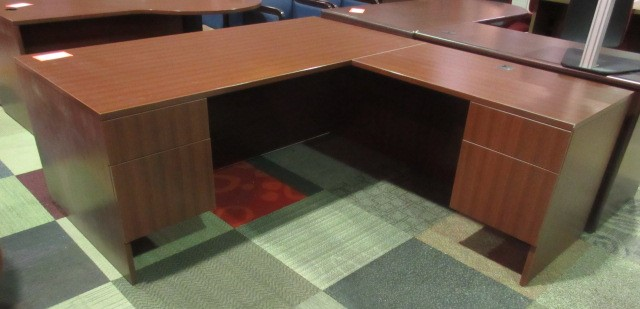 Lacasse Cherry Desk & Return