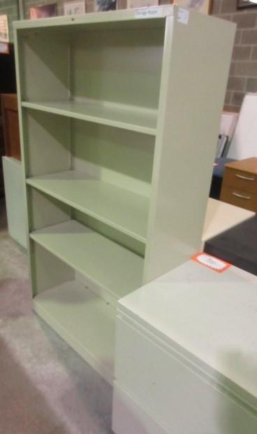 Elegant HON Metal Bookcase (Putty/59u2033 Tall)