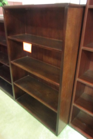 HON Dark Walnut Wood Veneer Bookcase (57u2033 Tall)