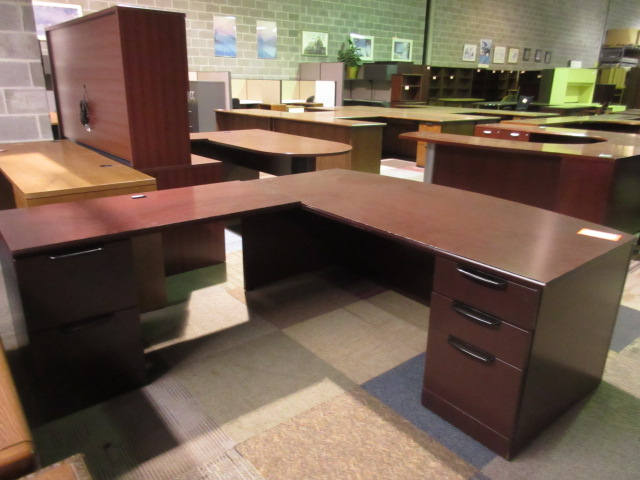 dark cherry knoll desk and return jg 39 s old furniture systems