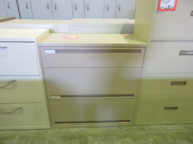 office specialty 36 three drawer lateral 37 5 tall non locking