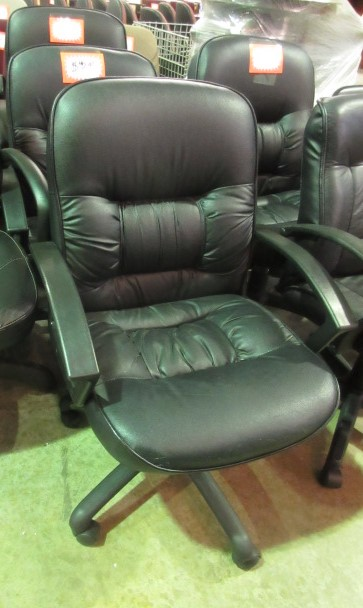 black leather low back desk chair black loop arms jg 39 s