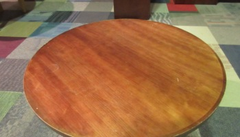 HON Mahogany Wood Veneer Round Table XBase JGs Old - Hon 42 round conference table