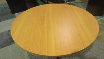 Hon Round Wooden Veneer Cherry Conference Table JGs Old - Hon round conference table